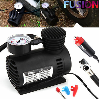 12V Car Electric Mini Compact Compressor Pump Bike Tyre Air Inflator 300Psi New