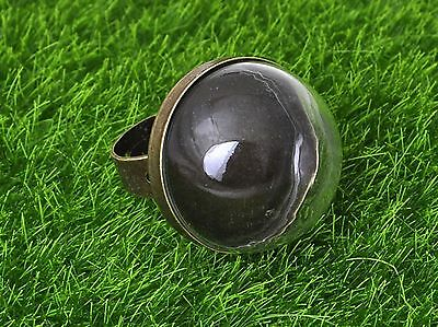 DIY Bronze Adjustable Ring with 25mm Clear Glass Dome Terrarium 1/2 Globe Bottle