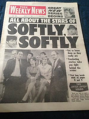 Vintage The Weekly News 23.3.68 Stars Of Softly Softly