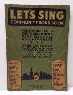 LET'S SING COMMUNITY SONG BOOK Canadian Music Sales Corp. Ltd. Vtg