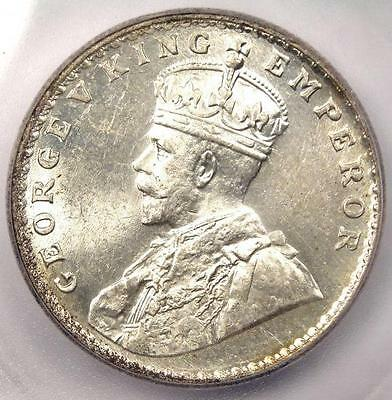 1919-B India Rupee KM-524 - ICG MS62 - Rare Certified BU UNC Coin
