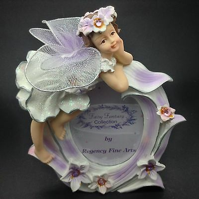 Regency Fine Arts Photoframe Fairy Fantasy Collection New In Box R39734 Kitsch