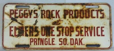 Peggy's Rock Products @ Elmer's One Stop Service License Plate Topper