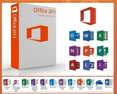 MICROSOFT OFFICE Professional Plus 2013  Code WINDOWS Fast Delivery