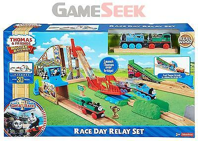 Thomas And Friends Wooden Railway Race Day Relay - Toys Brand New Free Delivery