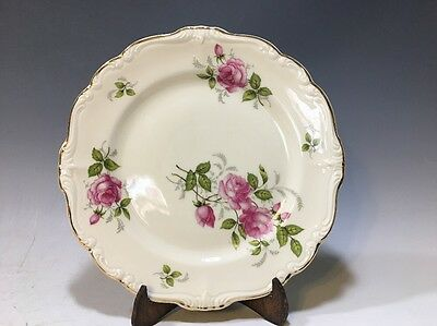 Rosenthal Pompadour Courtship Bread Plate White/Pink Roses/Gilt