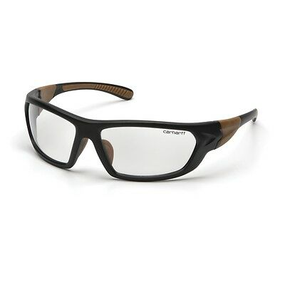 Carhartt Safety Glasses With Clear Anti-fog Lens Black Tan Frame