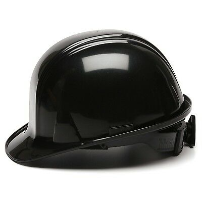 Pyramex Cap Style Hard Hat Black with 4 Point Ratchet Suspension