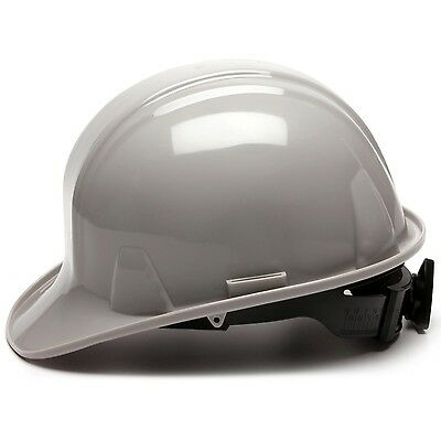 Pyramex Cap Style Hard Hat with 4 Point Ratchet Suspension, Gray