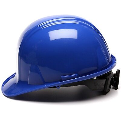 Pyramex Hard Hat Cap Style with 4 Point Ratchet Suspension, Blue