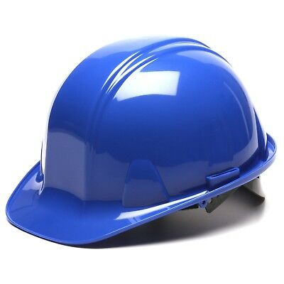 Pyramex Hard Hat Cap Style Blue with 4 Point Snap Lock Suspension