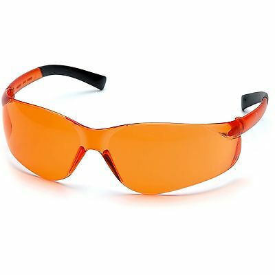 Pyramex Safety Glasses Orange Lens with Black Temples