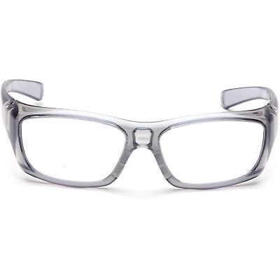 Pyramex Emerge Safety Glasses with Clear RX Lens, Gray Frame