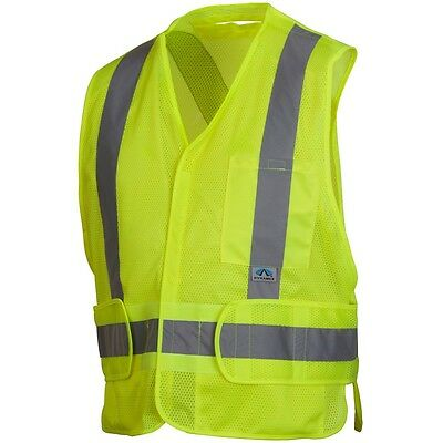 Pyramex Lime Safety Vest with Reflective Tape - 2XL