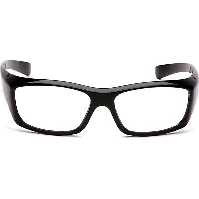 Pyramex Emerge Safety Glasses with Clear RX Lens, Black Frame