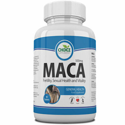Maca Root Extract 500mg Tablets for Energy Fitness Stamina Fertility PMT GENUINE