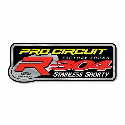 Exhaust sticker r-304 stainless shorty - dcr304 - Pro circuit 18600638