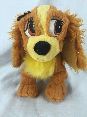 DISNEY WORLD Plush LADY And The Tramp TOTE A TAIL Tale Brown Soft Sparkly Bean