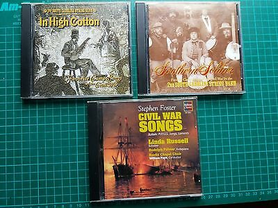 3x american civil war song cd's
