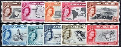 Ascension-1956. 1/2d to 1/-. SG57/66 [10 values]. Very fresh MM.
