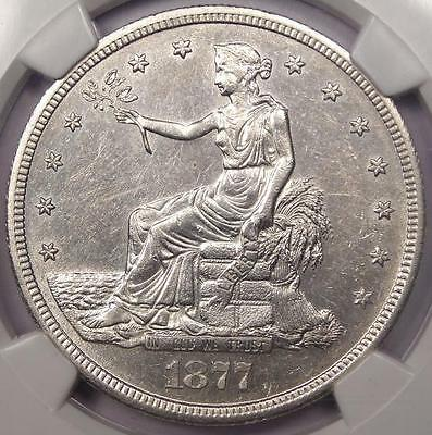1877-S Trade Silver Dollar T$1 - NGC Uncirculated - Rare Date UNC BU MS Coin