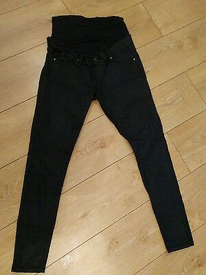 black coated maternity jeans  size 10