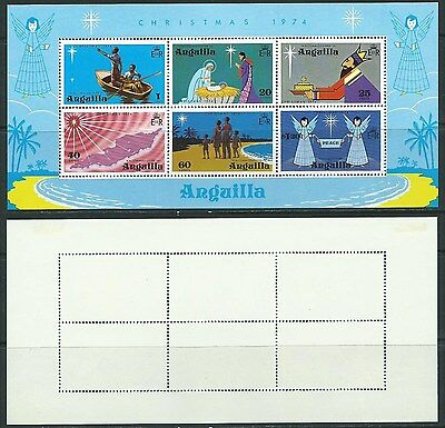 Stamps Anguilla Sg Ms 201 Christmas 1974 Mm