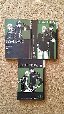 Clamp Legal Drug Complete English Manga Series, Vol. 1-3 Collection (USED)