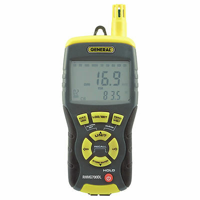 RHMG700DL 14-IN-1 THERMO-HYGROMETER w/ INTEGRAL PIN/PINLESS MOISTURE METER