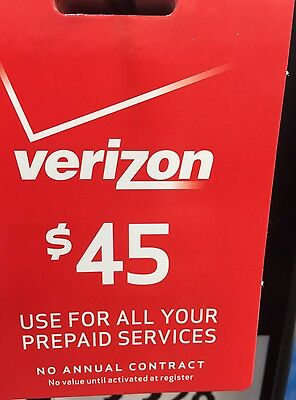 $45 Verizon Prepaid Monthly Fastest refill Applied Direct WE R HERE 7 DAYS