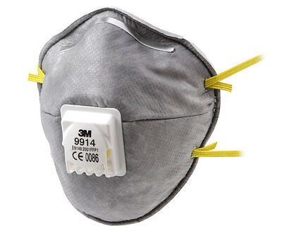 3M 9914 Nuisance Level Acid Gas Valved Particulate Respirators FFP1SV 10 Pk