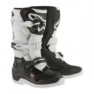 Tech 7s youth off road boot 5 black/white - 2015017-12-5 - Alpinestars  34110350