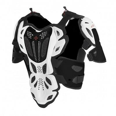 A-10 full off road chest protector xs/s white/black/r... - Alpinestars  27010774