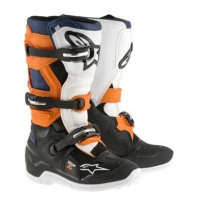 Tech 7s youth off road boot 8 black/orange/white/blue... - Alpinestars  34110381