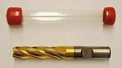 "USA 1/2"" Roughing End Mill 4 Flute 1/2"" Shank COBALT TiN"