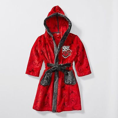 NEW Disney Cars Hooded Dressing Gown Kids