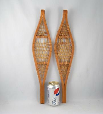 Vintage Native Indian Made Miniature Snowshoes   19 3/4``