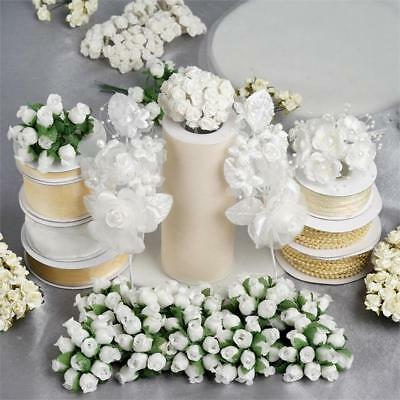 Ivory LARGE Lot of Assorted CRAFT Decorations Wedding Party Wholesale SALE