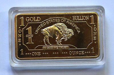.999 Fine Gold Buffalo Bullion Bar