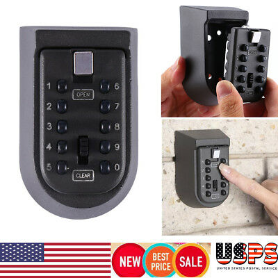 Outdoor Combination Key Safe Storage Box Wall Mount Home Security Lock Car Door