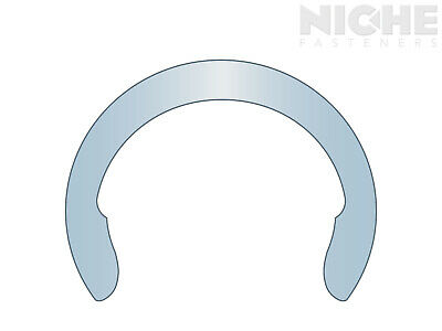 Crescent External Retaining Ring Clip 1-1/4 Spring Steel ZY  (150 Pieces)