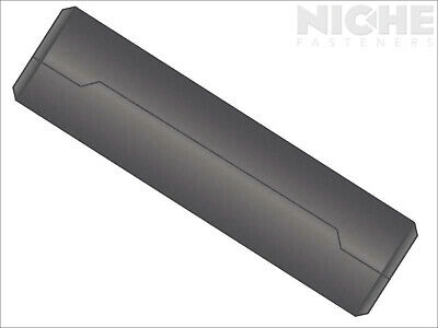 Dowel Pin Ground Hollow M10 x 12 Low Carbon Steel  (50 Pieces)