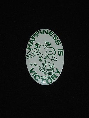 Vintage Peanuts Snoopy Button - Happiness is Victory - High School Pinback
