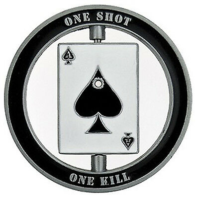 Smokin Ace One Shot Good Luck Casino Poker Texas Holdem Card Chip Protector