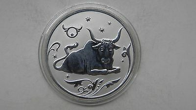 2005 Russia 1 Rouble Taurus Silver Proof coin