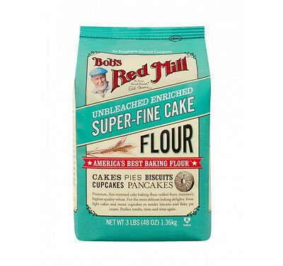 Bob's Red Mill Super Fine White Cake Pastry Flour 3lb Unbleached Baking Flour