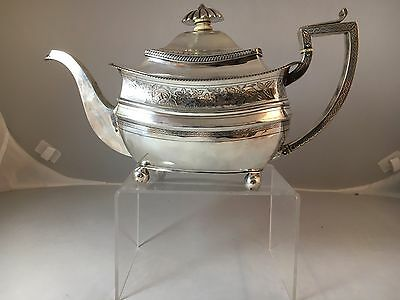 C. 1812 Stephan Adams Sterling Tea Pot