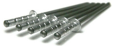 "Aluminum Multi Grip POP Rivets - 43-45, 1/8"" (0.196 - 0.330 MultiGrip) Qty-100"