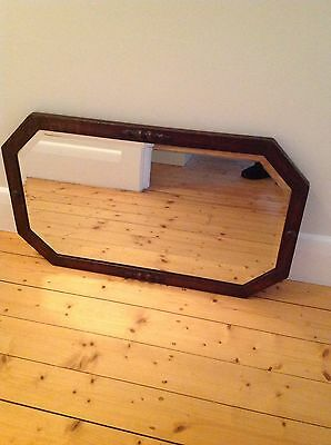 Art Deco Timber Frame Mirror
