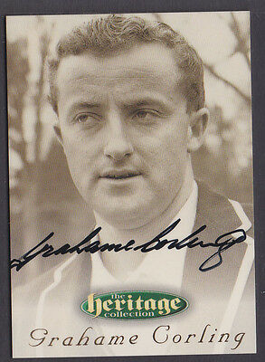 59 1996 Futera Cricket Heritage Collection Signature Card Grahame Corling